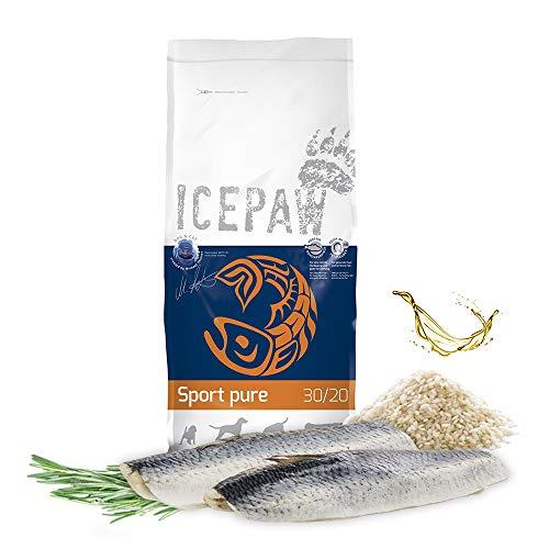 ICEPAW I High Premium Trockenfutter für Sporthunde I Sport Pure 15 kg I Mit Hering und Reis I Adult