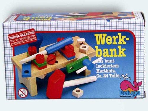 Beluga 50102 - Werkbank aus Holz 22 cm mit 24 Teilen