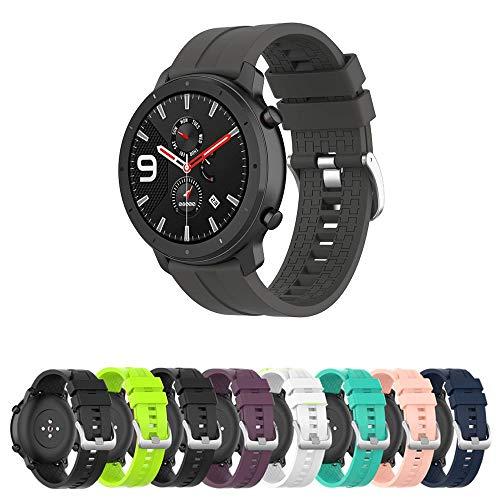 Pulseira Silicone 22mm compatível com Amazfit GTR 47mm - Stratos3 - Galaxy Watch 46mm - Gear S3 Frontier - Galaxy Watch 3 45mm - Marca LTIMPORTS (Cinza)