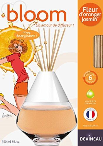 Devineau 1612525 Bloom Diffuseur de à Froid Coloré Parfum Fleur d'Oranger Jasmin 150 ml