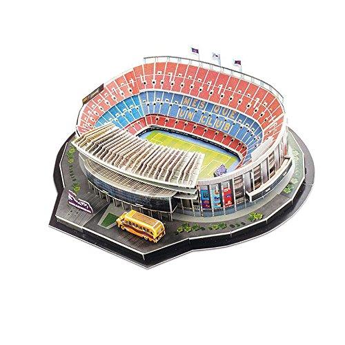Xueyanwei Copa del Mundo De Montar Jigsaw Puzzle Camp NOU Stadium 3D Modelos De Fútbol Aficionados Recuerdos Juguetes De Regalo para El Desarrollo De Los Intereses De Los Niños Al Fútbol