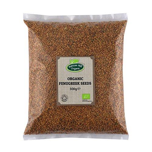 BIO Bockshornklee Samen 500g Bockshornkleesamen, Keim-Saat, ganze Bockshorn Fenugreek Seeds von Hatton Hill Organic - BIO zertifiziert…