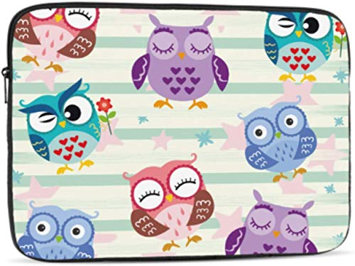 Interesting Cute Child Animal Owl Laptop Sleeve 13 inch, Shock Resistant Notebook Briefcase, Computer Protective Bag, Tablet Carrying Case for MacBook Pro/MacBook Air/Asus/Dell/Lenovo/Hp/Samsung/Sony