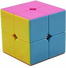 Bigood 2*2 Plastic Stickless Mini Cube Speed Cube