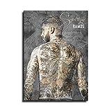 Sergio Ramos Leinwand-Kunst-Poster und Wand-Kunstdruck,