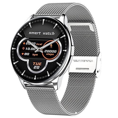 Reloj Inteligente Hombres Mujeres IP68 Impermeable Relojes Fitness Deportes Tracker Monitor de Sueño Frecuencia Cardíaca Smartwatch para Android iOS Impermeable Bluetooth Relojes Inteligentes