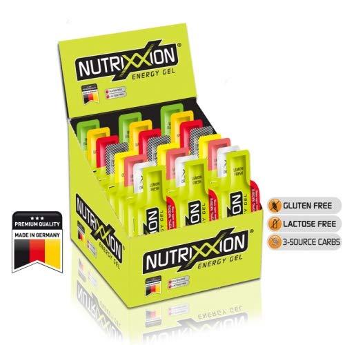 Nutrixxion GEL ENERGÍA con BCAA, Vitaminas y Minererales Set 24 x 44g, FlavorName gemischt