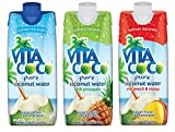 Vita Coco Coconut Water, Variety Pack - Naturally Hydrating Electrolyte Drink - Smart Alternative to Coffee, Soda, and Sports Drinks - Gluten Free - 16.9 Ounce (Pack of 12)