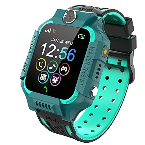 PTHTECHUS Reloj Inteligente Niño de Podómetro, Smartwatch Niños con 14 Juegos SOS Llamada MúSica Linterna Cámara Despertador Regalos para niños de 4 a 12 años (Y19-Blue)
