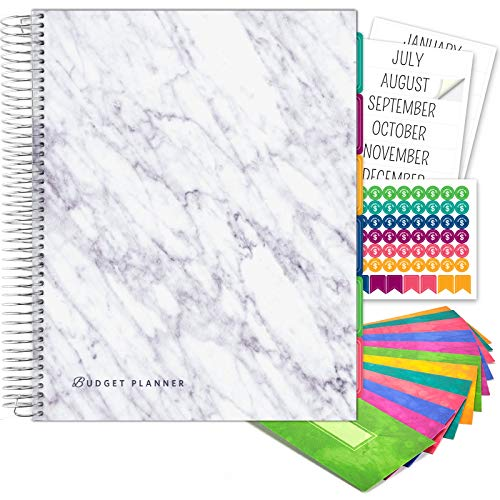 Budget Planner amp Monthly Bill Organizer with 12 Envelopes and Pockets Expense Tracker Notebook and Financial Planner Budget Book to Control Your Money Large Size 85quot x 11quot