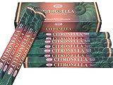 Citronella - Box of Six 20 Stick Tubes - HEM Incense