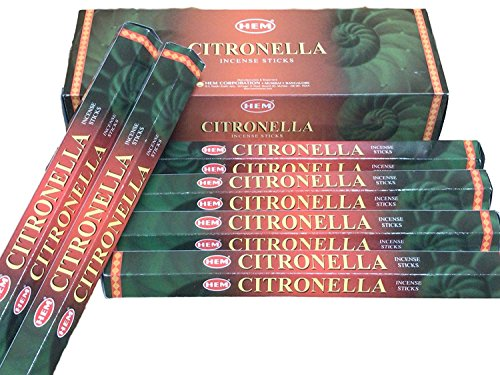 Citronella - Box of Six 20 Stick Tubes - HEM Incense