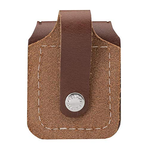 Zippo Pouch With Loop - Brown