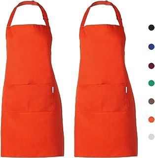 Orange Tablier Enfant Tablier Waiter Tablier Unisex Tablier DE Cuisine Shrinker Chef Tablier Enfant Salopette Ref-865 Pack*1 Misemiya