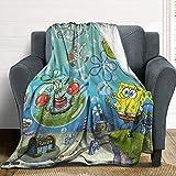 Suguroo Spongebob Blanket Family Blanket Super Soft and Comforter Carpet for Home