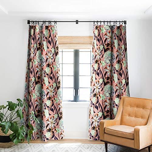 "Deny Designs Marta Barragan Camarasa Floral Vintage Blooms Blackout Window Curtain, 50"" x 84"""