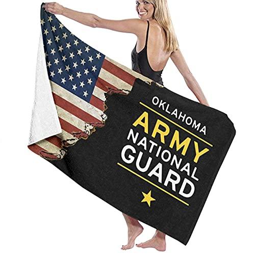Bokueay Oklahoma Army National Guard Toalla de Playa Plus Size Beach Towel, Bath Towel, Pool Towels,Microfiber Towel, Shower Towels,Yoga Towels, Quick Dry Towel