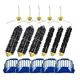 YHtech Cepillo Lateral 3 Armed + Filtro + Main Brushe de Repuesto for 500 600 Serie 550 595 610 620 630 650 670 Accesorio Aspirador Robot
