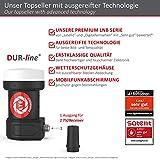 DUR-line +Ultra Single LNB – 1 Teilnehmer schwarz – mit LTE-Filter, 1-Fach, digital, Full HD, 4K, 3D,Premium-Qualität - 4