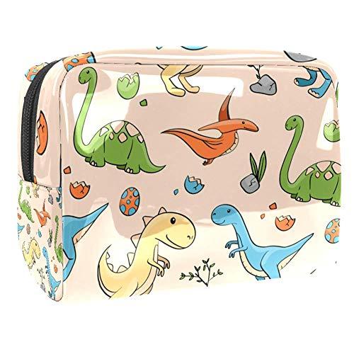 TIZORAX Sacs cosmétiques en PVC pour dinosaures et oeufs