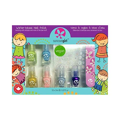 Suncoat Girl Set Nagellack Vegan Mini Mani Wasserlack für Kinder