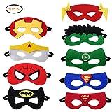 Superhelden Masken,Filz Masken Superhero Cosplay Party Masken Halbmasken Kindermasken mit...