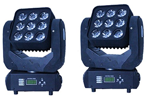 eshine 9 x 12 W Matrix Beam Mini luz de cabeza de mover LED Disco...