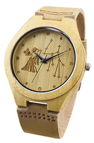 Eyekepper Virgo tallada bambúos reloj...