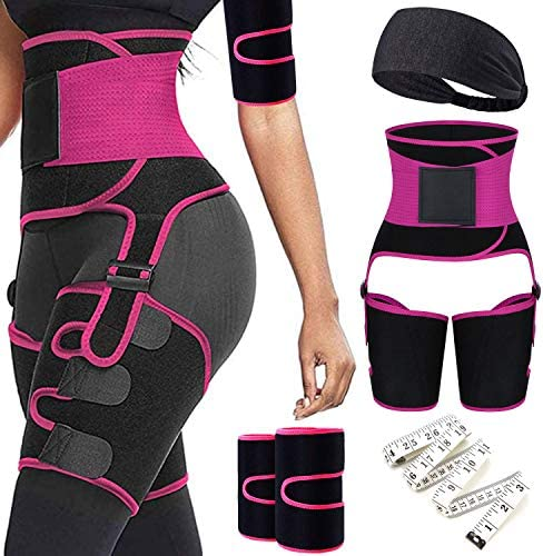 6 in 1 Waist Trainer Thigh Arm Trimmer for Women Double Compression Belt Leg Support Sweat Sauna product image
