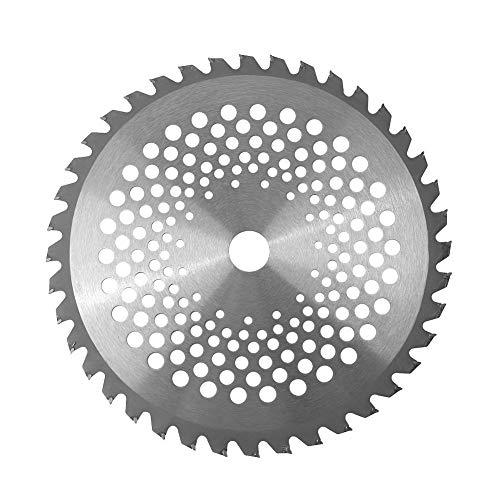 10 '' 40 dientes Punta de carburo Plata Hoja de sierra circular Discos de rueda para carpintería para jardín Desbrozadora de césped Trimmer Herramienta eléctrica para cortar malezas Diámetro