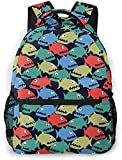 lindo bebé mono y plátano básico viaje portátil mochila novedad escuela bolso-colorido dibujos animados piranha