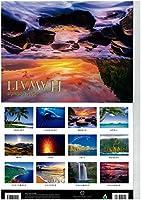 【ハワイ直輸入】2020 Hawaii ハワイ諸島(ワイキキレインボー、ラニカイビーチなど) カレンダー (2020年1月-2020年12月まで12ヶ月分)ハワイ諸島(オアフ島・カウアイ島・ハワイ島・マウイ島)風景写真 おまけ付き(オリジナルALOHAポストカード5枚セット)