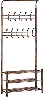 Amazon.com: Yaheetech Hall Tree Metal Entryway 18 Hooks Coat ...