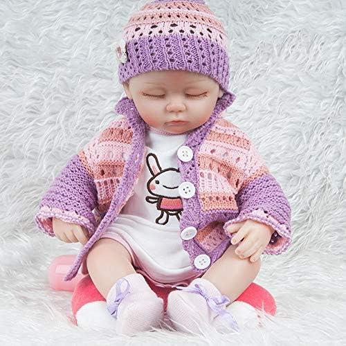 Hongge Reborn Baby Doll,Lebensechte Reborn Baby Baby Kind Puppe Spielzeug Geschenk 45cm