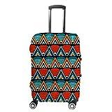 HAOXIANG Fundas para equipaje de viaje, coloridas fundas tribales para maleta, bolsa...