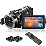 "Videocamera 1080P, MELCAM Camcorder 36MP IR Visione Notturna Youtube Vlog Webcam 3.0"" IPS Schermo 16X Zoom Digitale Fotocamera con Telecomando"