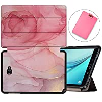 MAITTAO Galaxy Tab A 10.1 with S Pen 2016 Case SM-P580/P585, Folio Shell Case Stand Cover with Auto Wake/Sleep for Samsung Galaxy Tab A 10.1 Inch Tablet Sleeve Bag 2 in 1 Bundle, Marble 20