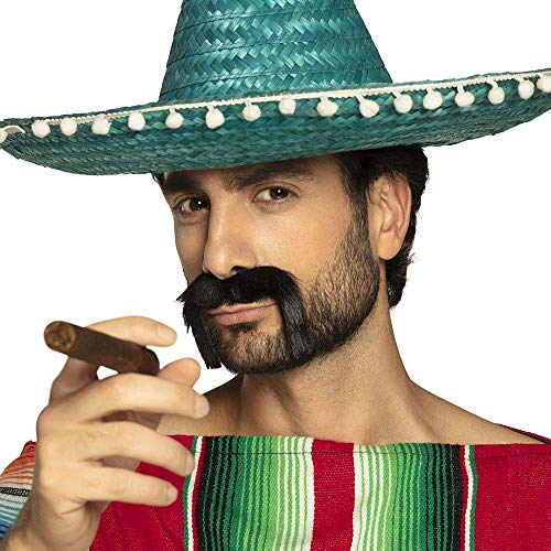 Boland 01807 - bigote mexicanos, un tamaño, negro