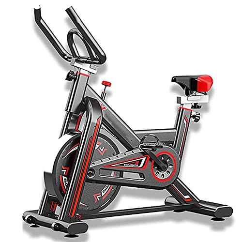 KirinSport Bicicleta estática, bicicleta fitness, equipo fitness, con manillar ajustable, asiento y resistencia, medición de pulso, pedales con reposapiés, para entrenamiento cardiovascular en casa
