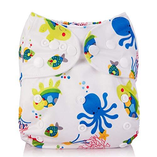 Miwaimao 1Pc Herbruikbare Baby Doek Luier Cover Wasbare Luiers Carton Katten Groene Luier Waterdichte Zakluiers Pak 3-15kg