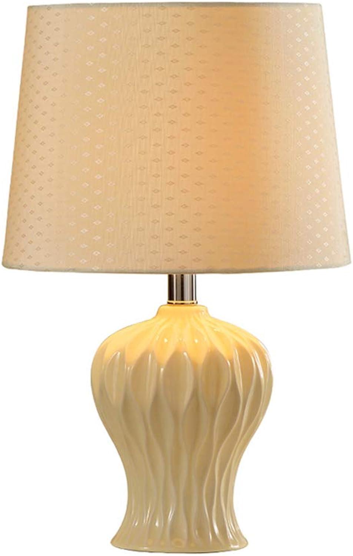 Guo Modern und einfach im im im europäischen Stil Zimmer Keramik Tischlampe Schlafzimmer Nachttischlampe Tischlampe kreative amerikanische Cozy Luxury Living B01LX0GUHE   | Clearance Sale  799396