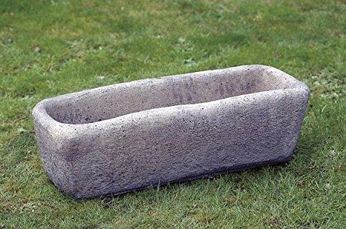 pompidu-living Steintrog - Steinkasten aus Handarbeit in Antik Optik - Sandstein Kasten als Pflanzentrog in Sandsteinfarbend, (H x B x T): 30x97x40 cm