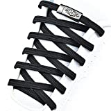 OLOEY No Tie Shoelaces Magnetic Metal Lock Elastic Shoelaces,One Size Fits All,For Adult &kids(1pars) (fdb)