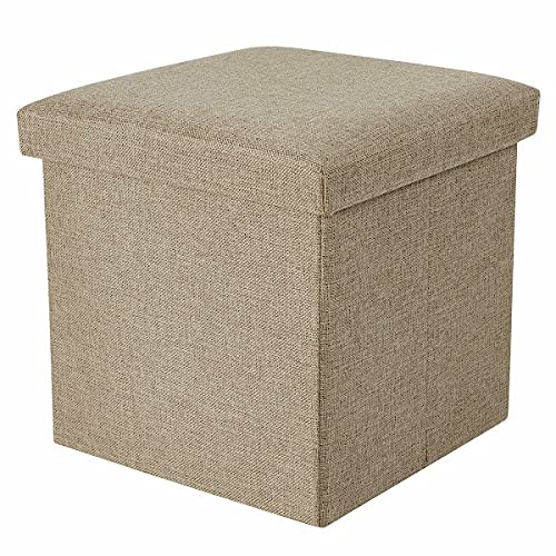 Khaki Easy-to-use Over item handling M Folding Storage Stool Box Bench Collapsible Ch Ottoman