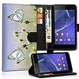wicostar Book Style LG L Bello Premium PU-Leder Tasche Flip Brieftasche Handy Hülle Kartenfächer mit Standfunktion für LG L Bello - Design Flip MVC36