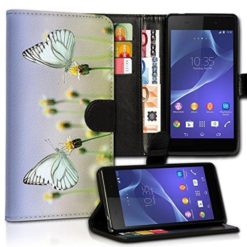 wicostar Book Style Samsung Galaxy Note 3 Neo Premium PU-Leder Tasche Flip Brieftasche Handy Hülle Kartenfächer mit Standfunktion für Samsung Galaxy Note 3 Neo - Design Flip MVC36