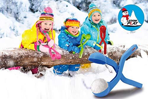 Jamara 460395 - Snow Play Schneeballzange 38cm blau - Schneebälle (ca. 7 cm Durchmesser) in Sekunden formen, nie wieder kalte Hände, Schneebälle sind fluffig und nicht so hart wie die handgemachten