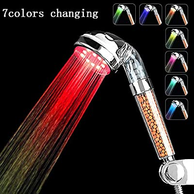 TKSTAR-Led Water Faucet Stream with Temperature Control Colorful Light Changing Replacement Faucet Mount No Batteries Needed Party Water-tap