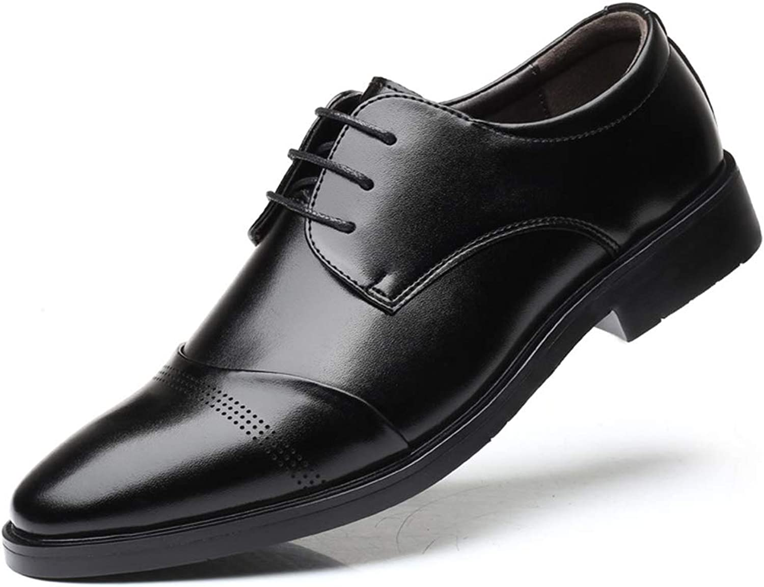 Men's Leather shoes 2018 New Business Formal shoes Dress shoes Wedding Prom Party & Evening Leather shoes,B,42