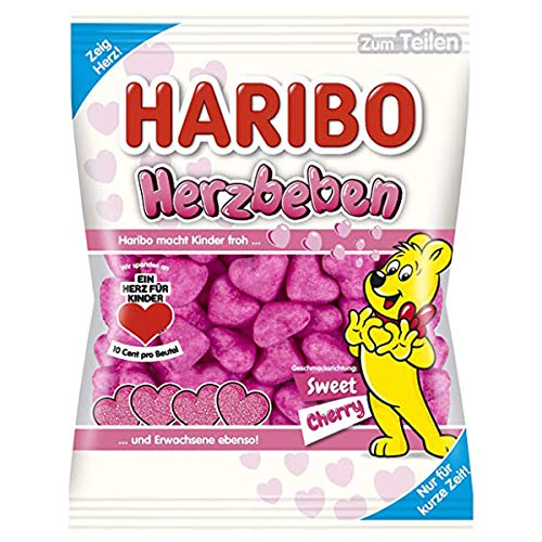 Haribo Herzbeben Sweet Cherry Schaumzucker mit Kirschgeschmack 175g